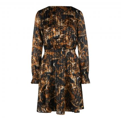 Fließendes Kleid mit All-Over Muster divers (0217 Combo A) | XS