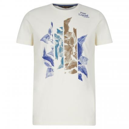 T-Shirt mit Frontprint ecru (7001 Egret) | L