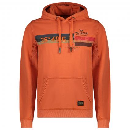 Hoodie mit Label-Print  orange (2080 Burnt Ochre) | M