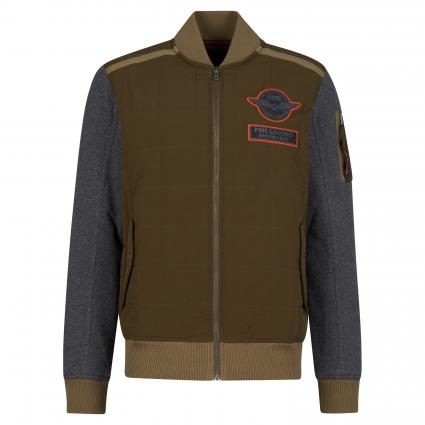 Jacke mit Rippbündchen grün (6389 Dusky Green) | L