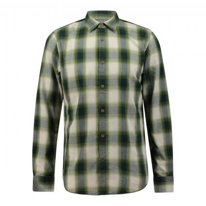Flanellhemd mir Karomuster grün (6372 Calliste Green) | XXXL
