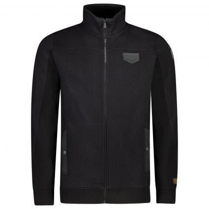Jacke mit Fischgrätenmuster schwarz (9123 Meteorite) | XL