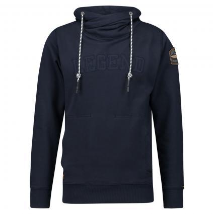 Hoodie mit Logo-Stitching marine (5288 Night Sky) | L