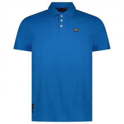 Poloshirt mit Label-Stickerei  blau (5185 Imperial Blue) | XXXL