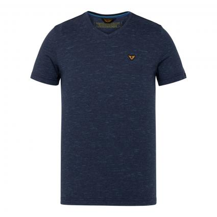 T-Shirt mit All-Over Muster marine (5073 Sky Captain)   XL