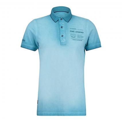 Poloshirt mit Logo Druck blau (5165 Blue Moon)   M