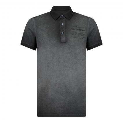 Poloshirt mit Logo Druck grau (9123 Meteorite)   XXL