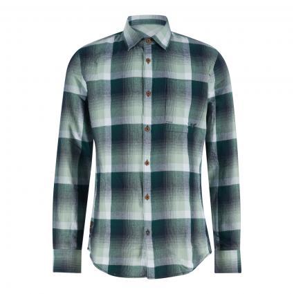 Regular-Fit Hemd mit Karomuster grau (9089 Aqua Gray)   XXL