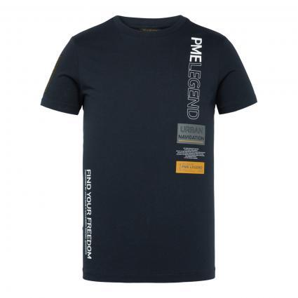 T-Shirt mit Labelprint marine (5073 Sky Captain) | XXL