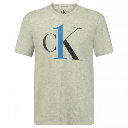 T-Shirt mit Logo-Print grau (080 GREY) | L
