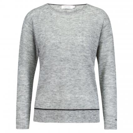 Pullover in melierter Optik grau (P4A GREY) | XXL