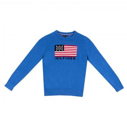 Pullover mit Rundhalsausschnitt blau (CE4 BLUE) | 152