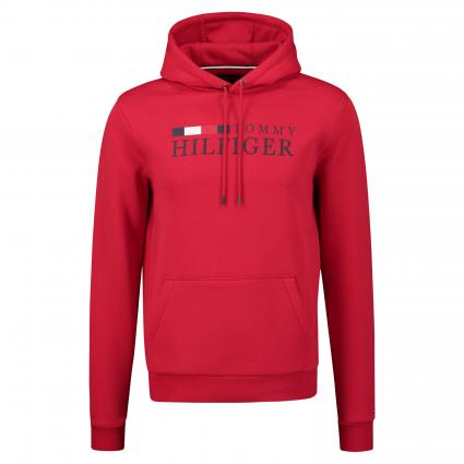 Hoodie mit Logo-Print rot (XLG RED) | S