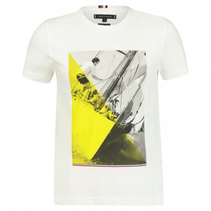 T-Shirt mit Print weiss (YBR WHITE)   M