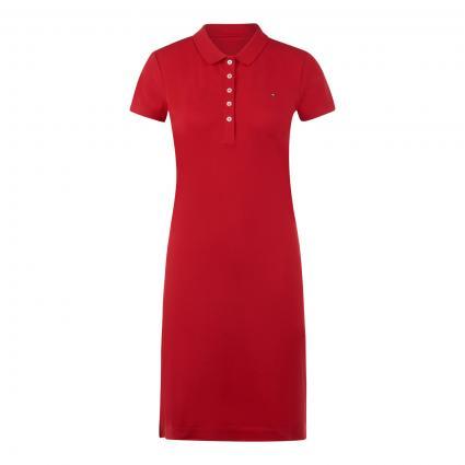 Kleid mit Polo-Kragen rot (XLG RED) | XXL