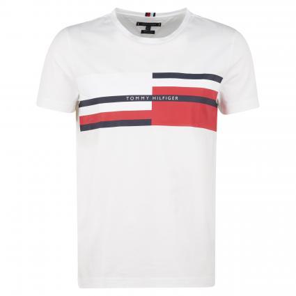 T-Shirt mit Logo-Print weiss (YBR WHITE) | M