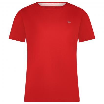 T-Shirt mit Label-Stickerei rot (XNL RED) | M