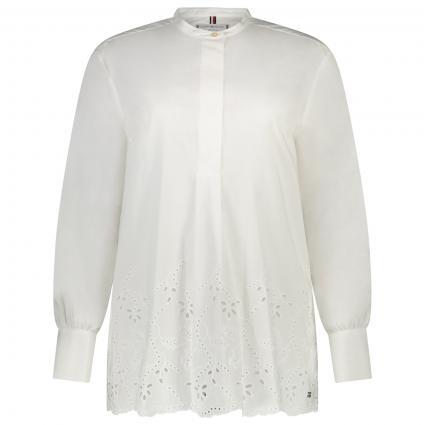 Bluse mit floraler Stickerei  weiss (YBR WHITE) | 36