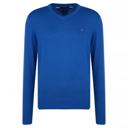 Pullover mit V-Ausschnitt blau (DVG BLUE) | XXL