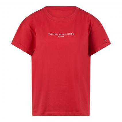 Top mit Schriftzug rot (XLG RED) | S