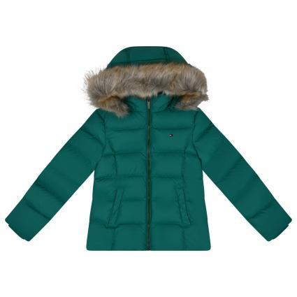 Daunen Jacke mit Kapuze  grün (L57 GREEN) | 176