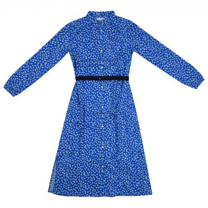 Kleid mit All-Over Blumen Muster  blau (0GY BLUE) | 140