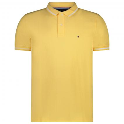Polo T-Shirt mit Label Stickerei gelb (ZFB YELLOW) | XXL