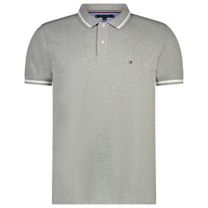 Polo T-Shirt mit Label Stickerei grau (PG5 GREY)   M