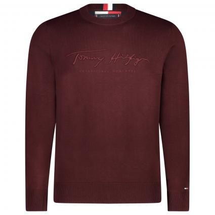 Sweatshirt mit Labelstickerei bordeaux (XIH RED) | M