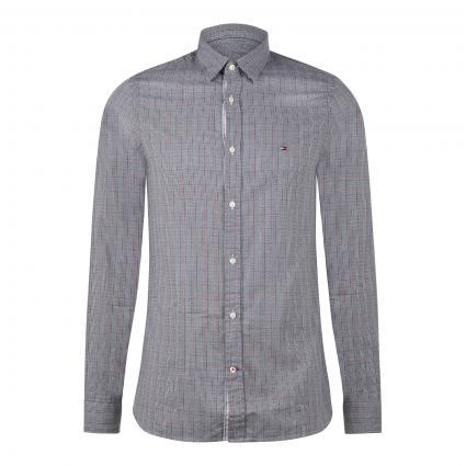Slim-Fit Hemd mit Karomuster schwarz (0MD BLACK)   L