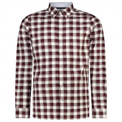 Slim-Fit Button-Down Hemd mit All-Over Karo Muster  rot (0QJ RED) | S