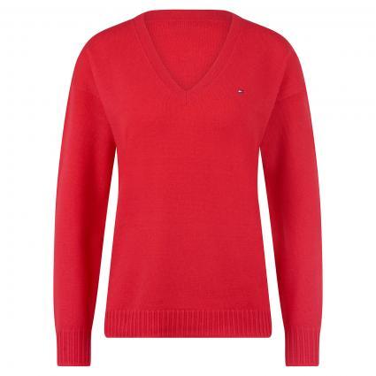 Pullover mit V-Ausschnitt rot (XIC RED) | XS