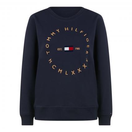 Sweatshirt mit Label-Stickerei blau (DW5 BLUE) | S