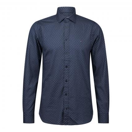 Slim-Fit Hemd mit Blumenmuster blau (0GY BLUE) | XL