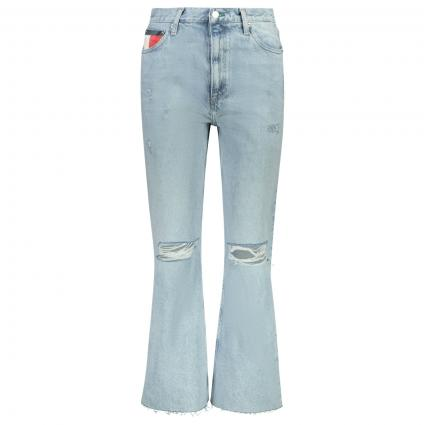 Boot-Cut Jeans Hose im Used-Look  blau (1AB DENIM) | 32 | 30
