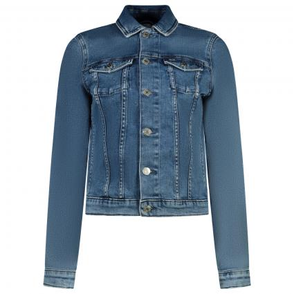 Slim-Fit Jeans Jacke blau (1A5 DENIM) | XL