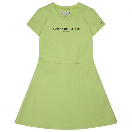 Kleid mit frontaler Label-Stickerei  grün (LT3 GREEN) | 176