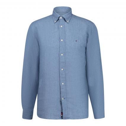 Regular-Fit Hemd aus Leinen blau (DY8 BLUE) | XL