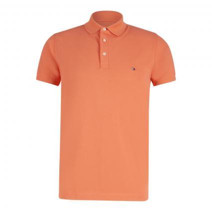 Slim-Fit Poloshirt mit Label-Stickerei  orange (SO2 ORANGE) | S
