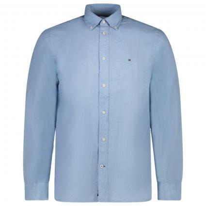 Regular-Fit Hemd aus Leinen blau (C1S BLUE) | XXL