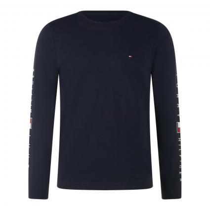Langarmshirt mit Logo-Stickerei blau (DW5 BLUE)   S