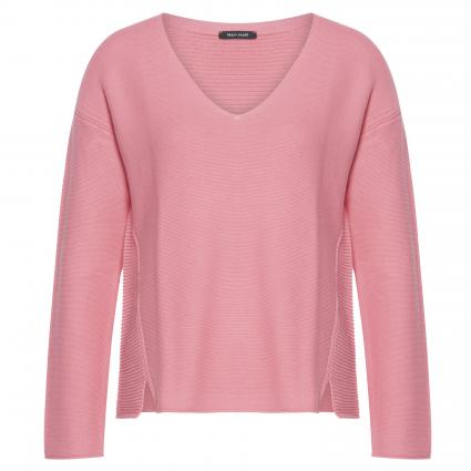 Pullover, longsleeves, V-neck and s pink (643 fresh peach) | M