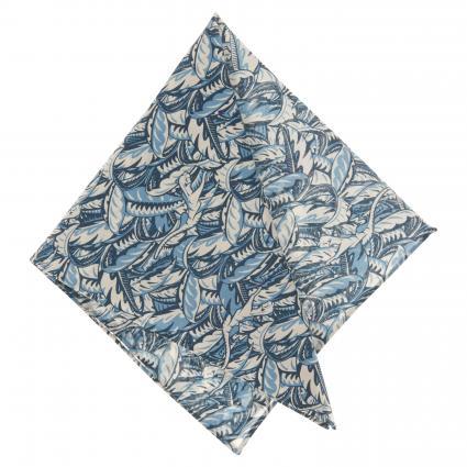 Einstecktuch aus Baumwolle mit All-Over Musterung blau (1)   0