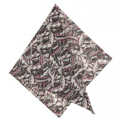 Einstecktuch aus Baumwolle mit All-Over Musterung lila (2) | 0