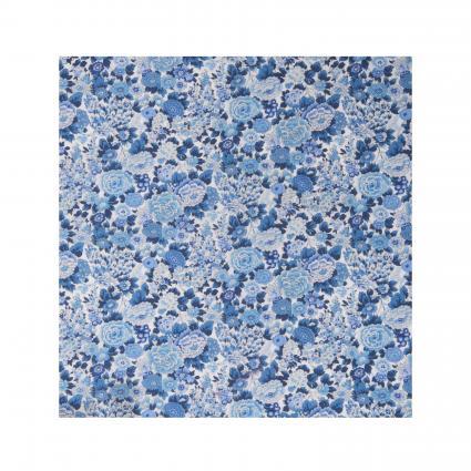 Einstecktuch mit floralem All-Over Muster blau (3) | 0