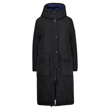 Langer Mantel mit Wendemöglichkeit und Kapuze schwarz (9054 schwarz/marine)   L