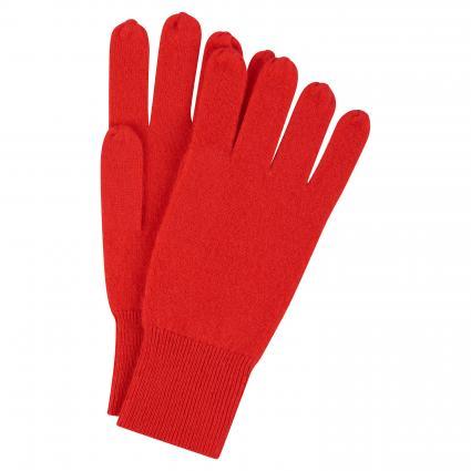 Gants en cachemire pur rouge (412 rot) | 0