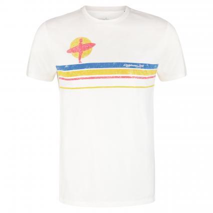 T-Shirt mit Streifenmuster ecru (W03 egret) | XXL