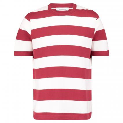 Oversize-Shirt 'Albee' mit Streifenmuster rot (red cream stripe) | M