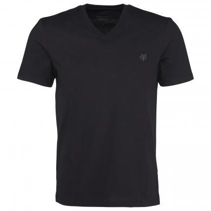 T-shirt, short-sleeve, v-neck, shap schwarz (990 black) | XL